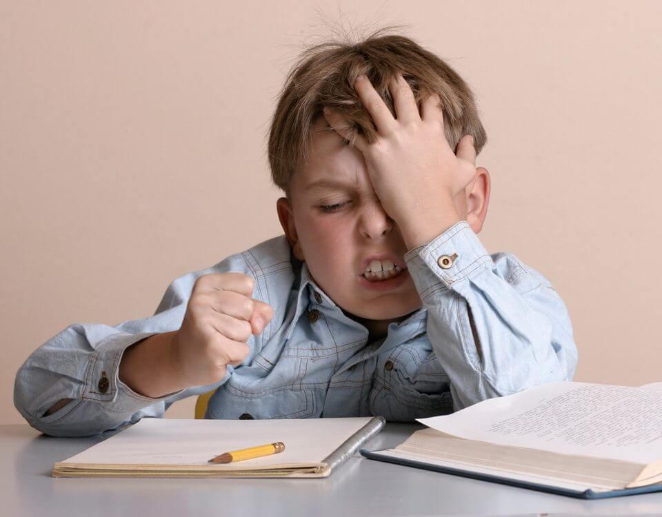 ödev yapmayan çocuk